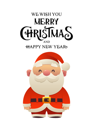 Cartoon Santa Claus holiday character vector illustration isolated Ilustracja