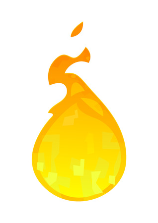 Cartoon flame icon isolated on white background vector