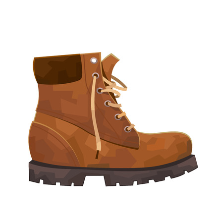 Hiking mountain boot isolated on white background vector