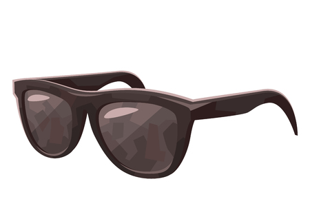 Beautiful black Sunglasses isolated on white background vector