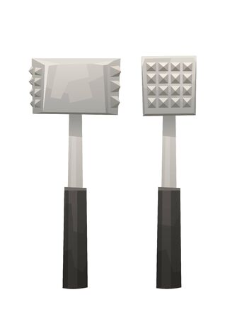Kitchen metal hammer on white background vector isolated Ilustração