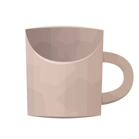 Classic white cup on white