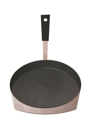 Frying pan isolated kitchen utensils for cooking food vector Ilustração