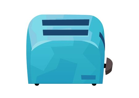 Blue toaster in cartoon style isolated on white background vector