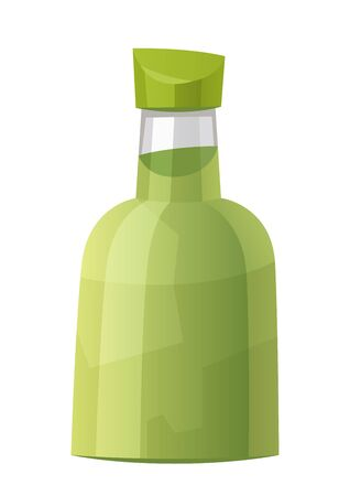 Sauce wasabi bottle isolated on white background vector