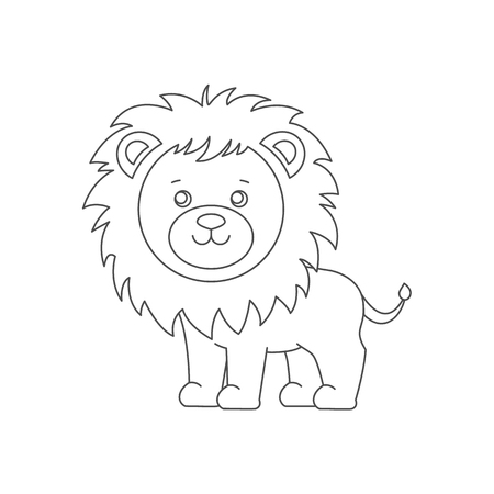 Lion For Coloring Book. Royalty Free Cliparts, Vectors, And Stock ...