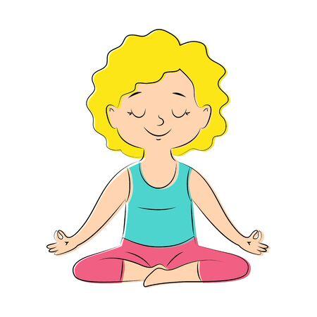 gir: Yoga pose lotos Illustration