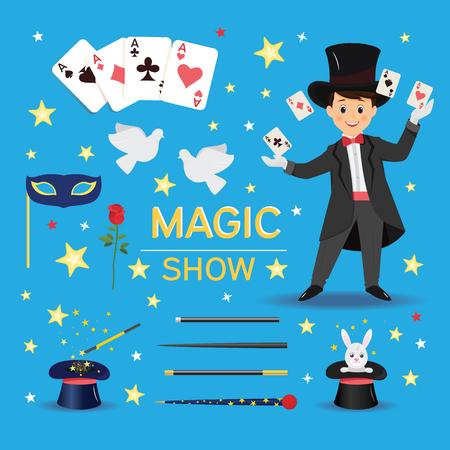 Banner de espectáculo mágico.