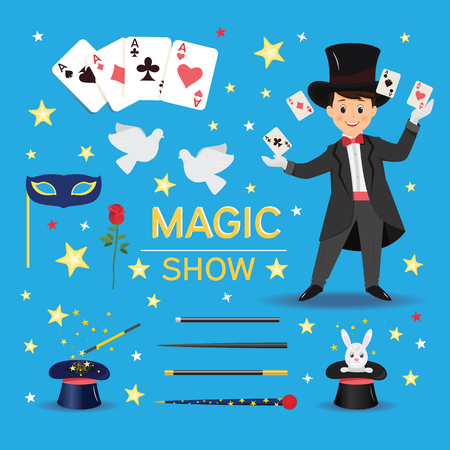 Magic show banner. Vectores