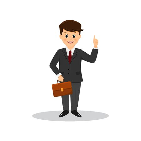Office worker with a briefcase. Illustration
