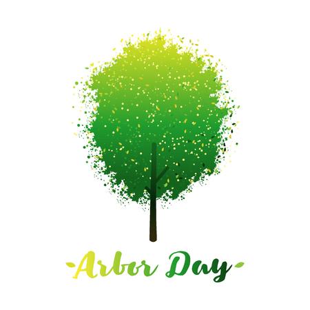 Arbor Day logo with tree