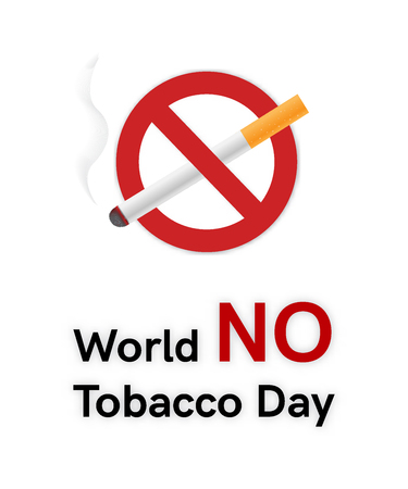 World No Tobacco Day banner or card Stock Photo