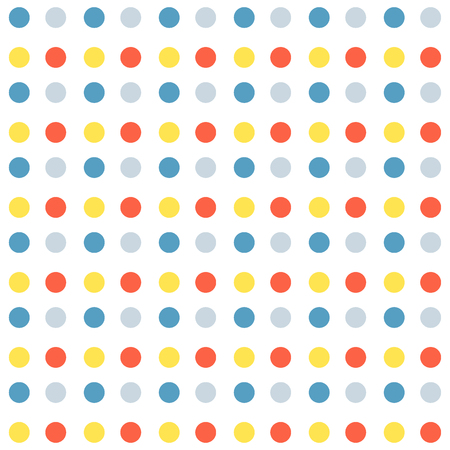 Seamless pattern with dots. Pattern included in swatch panel. Vector illustration. White background.