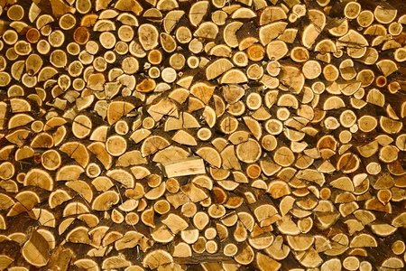 Pile of chopped fire wood Stock Photo - 18351266