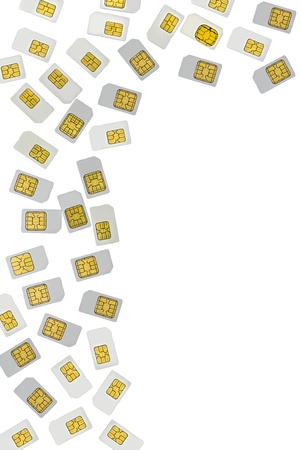 SIM card border, isolated photo