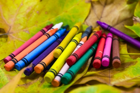 Crayons lying in chaos photo