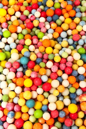 background of colorful and delicious candies photo