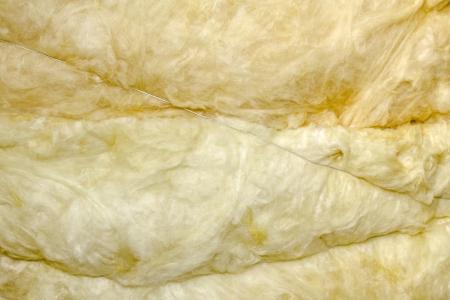 Thermal insulation material - fiberglass close view, Stock Photo