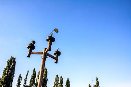 vandalism: Vandalism on to old fashioned street light