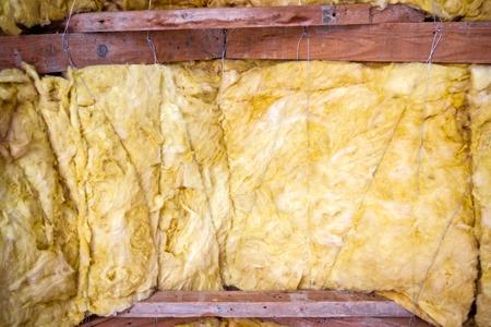 rockwool: Thermal insulation material - fiberglass close view, pattern