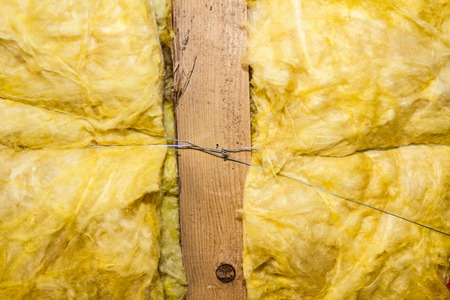glasswool: Thermal insulation material - fiberglass close view, pattern