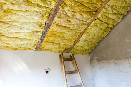 glasswool: Old wooden ladder are ready for climbing up to work
