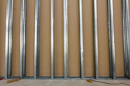 石膏ボードのフレーム。石膏壁は、建設中です。