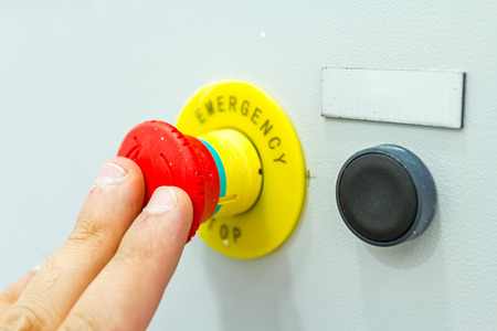 override: Activation or shutdown fuse box, with an emergency reset button.