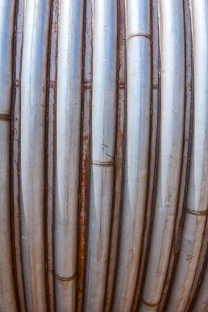 Cooling or heating system is made of stainless bended pipes that are welded around cistern, reservoir.