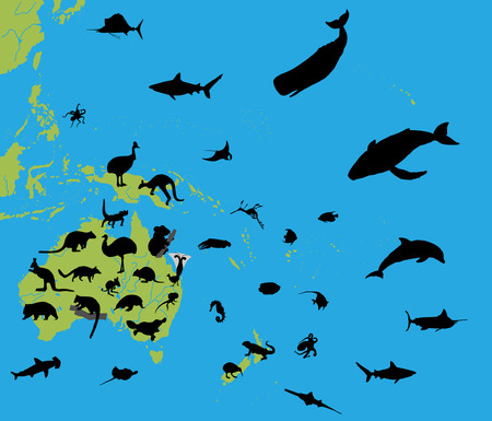 Animals of Australia and Oceania