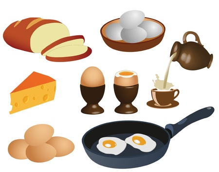 egg cups: Breakfast Illustration