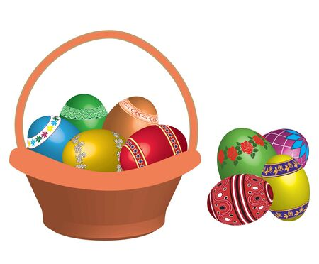 egg in basket  Vector