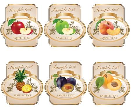 label: Label voor product Stock Illustratie