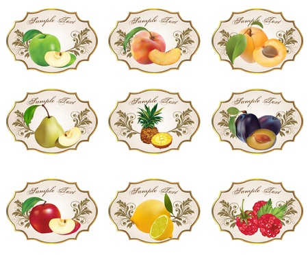 apricot: Label for product Illustration