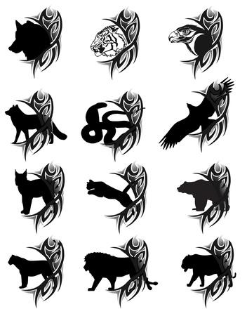 white wolf: tattoo Illustration