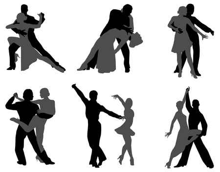 latin americans: dance  Illustration