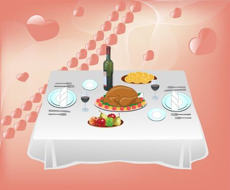 Dinner for two  Stock Vector - 14637554