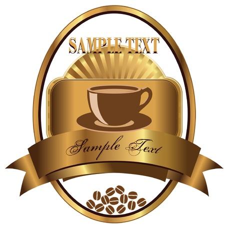 Keurmerk voor koffie Stockfoto - 14846094