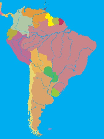republic of ecuador: political map of South America