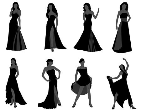 美しいドレスを着た女性