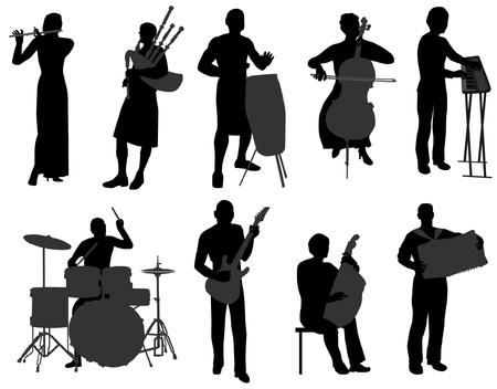 flet: muzyk Ilustracja
