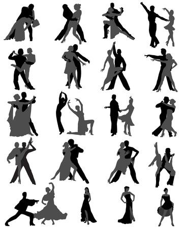 bailarines silueta: bailar