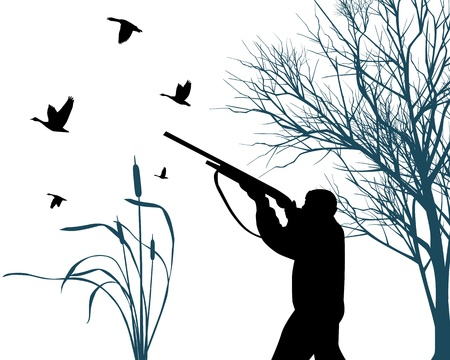 wildlife shooting: Hunter Illustration