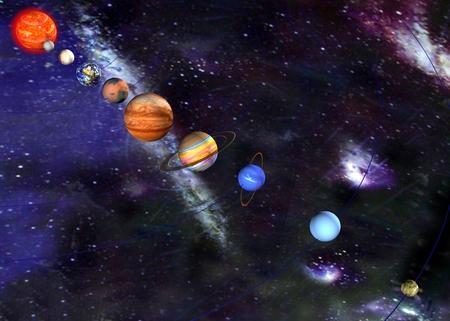 parade of the planets Фото со стока - 40970200