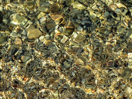 Seabed of the Black Sea with stones photo