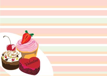 bright cake: cake on Valentine