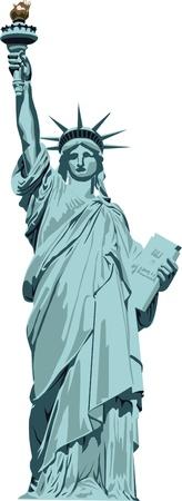lady liberty: Estatua de la Libertad sobre fondo blanco Vectores