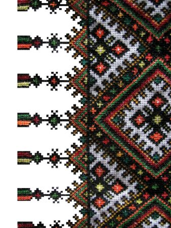 europe eastern: the boundary of the traditional Ukrainian cross-stitch