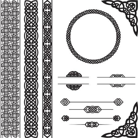 irland�s: elementos decorativos para el dise�o de vectores