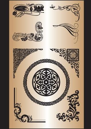 keltische muster: eine Reihe von Mustern aus verschiedenen Stilen zu verarbeiten Ecken Illustration